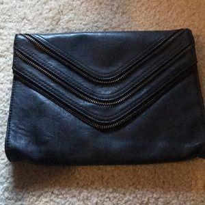 Handbags - Black faux leather clutch